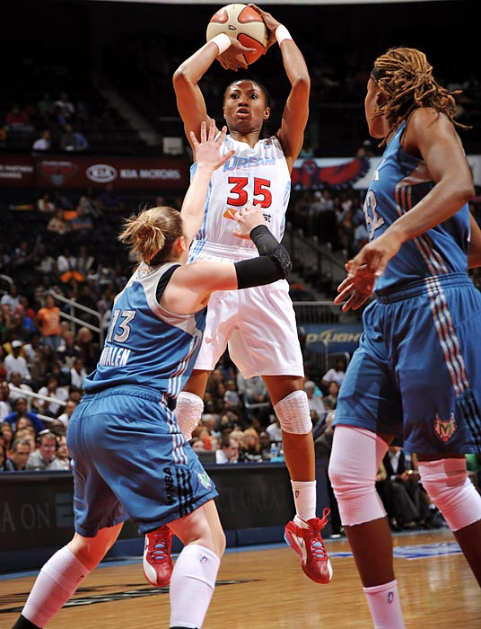 Angel McCoughtry must constantly be thinking, Third time's the charm. The 2011 All-Star has led the Atlanta Dream to two straight WNBA Finals, only to come up short both times. The Dream retain most of their starters from last year, and given the players stay healthy, they should make another solid run through the playoffs.