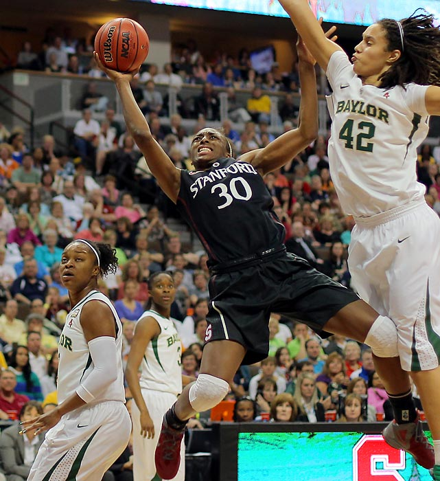 The first pick in the 2012 WNBA Draft, Nnemkadi Ogwumike (30) hopes to make a huge impact with the Los Angeles Sparks this year. Following in the footsteps of former first draft picks such as Angel McCoughtry, Tina Charles and Maya Moore is no easy task, but Nneka should have no problem doing so. She's already led the Sparks in scoring in several preseason games.