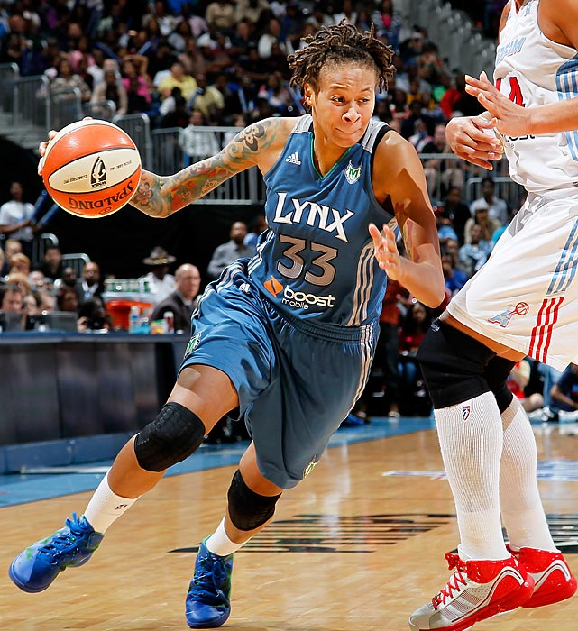Seimone Augustus and the rest of the Minnesota Lynx are being chased by every other team in the WNBA. Fortunately for the Lynx, they remain one step ahead of their pursuers. Minnesota returns the majority of its title-winning roster from last year, putting it in the running for a repeat WNBA championship. Augustus is one of three Lynx players who will be representing the U.S. at the London Olympics.