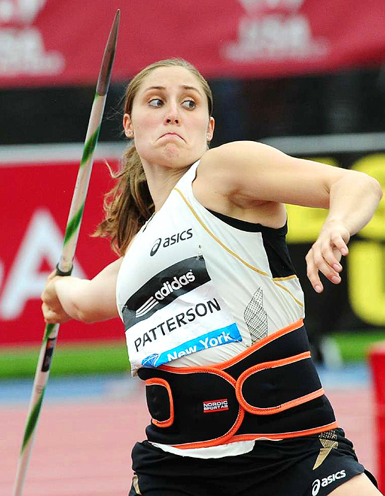 The U.S.'s Kara Patterson finished third in the javelin throw.