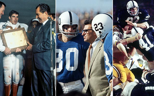 "One of the first vocal proponents of a playoff system, Joe Paterno went as far as President Nixon to voice his dismay with college football's postseason. Paterno was infuriated when Nixon attended the 1969 Texas-Arkansas game so he could crown the winner the national champion. Nixon offered Penn State a trip to the White House and a trophy for the nation's longest winning streak. Paterno replied ""Shove It."" Paterno also famously claimed ""How could President Nixon know so little about Watergate but so much about football?"""