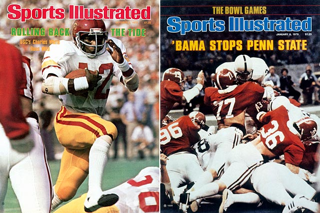 USC and Alabama split the 1978 national title even though the Trojans beat the Crimson Tide by 10 points in Birmingham earlier in the season. Alabama knocked off top-ranked Penn State in the Orange Bowl while USC beat fifth-ranked Michigan in the Rose Bowl, which was enough to cause voters to split the vote and produce one of the most controversial co-championships in college football history.