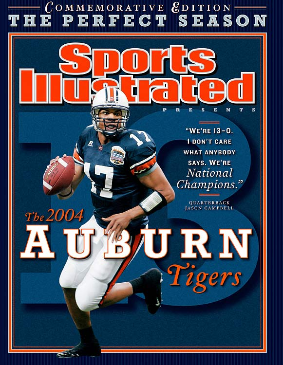 Jason Campbell, Ronnie Brown and Cadillac Williams were all be first round picks the following April, but they never did play for a national title. The '04 Auburn Tigers remain one of the true hard-luck teams of the BCS age, as preseason Nos. 1 and 2 USC and Oklahoma were pitted against one another for the title. USC went on to annihilate the Sooners 55-19, while Auburn knocked off Virginia Tech, 16-13, in the Sugar Bowl.