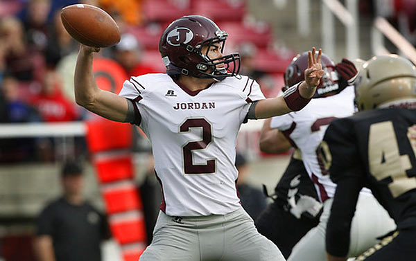 Last season, after leading Jordan High to the Class 5A semifinals and throwing for 3,188 yards and 23 touchdowns (and rushing for 1,377 yards and 22 touchdowns), Kafentzis was named Max Preps' National Freshman of the Year. BYU has already offered a scholarship and Kafentzis has been visited by plenty of college coaches. In addition to his performance on the field, Kafentzis, 16, broke the Utah Class 5A record in the javelin in May, throwing 190 feet.
