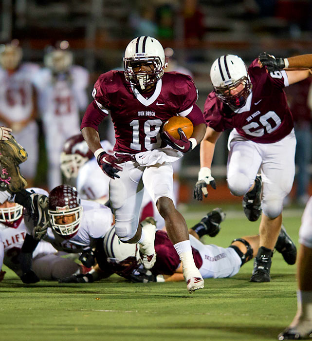 A playmaker on both sides of the football for Don Bosco Prep, the back-to-back New Jersey state champions and the No.1 football team in the nation, Peppers is the top player at his position (strong safety) and ranked No. 3 overall in the Class of 2014, according to 247Sports. He was named the Air Force national sophomore of the year in '11 after being national freshman of the year in '10.After helping lead Don Bosco Prep to the No. 1 final national ranking and a second straight state title this past season as a running back and cornerback, Peppers transferred in February to nearby Paramus (N.J.) Catholic. His greatest asset might be his speed, which he used to set the New Jersey non-public Class A outdoor 100-meter dash record with a time of 10.77 seconds. The 16-year-old already has offers from Alabama, Florida, Michigan, Notre Dame, Ohio State, Rutgers, South Carolina and UCLA.