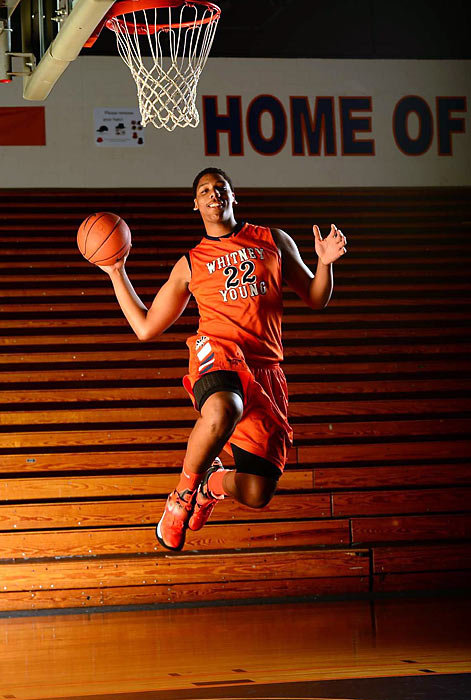 Rivals.com ranks him as the top big man and overall No. 3 player in the Class of 2014 for good reason: This past season, as a sophomore, the 6-foot-10 center averaged 21.9 points and 12.3 rebounds for Chicago's Whitney Young High, leading the Dolphins to the Illinois Class 4A Sectional semifinals. A distant cousin of Wizards center Emeka Okafor, the 16-year-old has received offers from nearly every major program in the country.