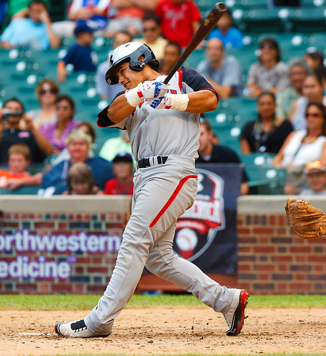 One of only two underclassmen to participate in last year's Under Armour All-America game, Martinez appears to be a first-round lock for next year's MLB Draft. He's currently the top-rated prospect in the 2013 class by ESPN. In March, he helped the Mater Dei Monarchs to USA Baseball's inaugural High School invitational title, batting .538 in four games; for the 2012 season, he hit .388 with 18 RBIs. Martinez verbally committed to USC at the end of his freshman season, but that won't stop a team from drafting him early.