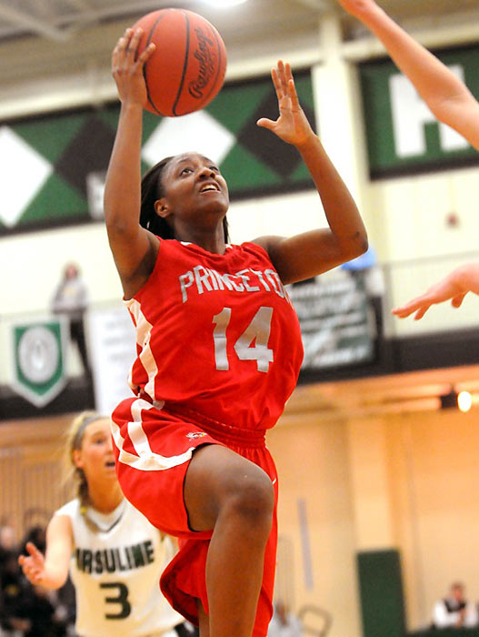 "Though Mitchell is only halfway through her high school career at Princeton High, she already has the women's basketball community abuzz. A 5-7 guard with a smooth shot, excellent defensive intangibles and advanced ballhandling skills, Mitchell is the highest rated Class of 2014 prospect, according to ESPN. She's already been invited to participate in the U-18 USA National Team Trials even though she doesn't turn 16 until November.  As a sophomore, Mitchell finished her season with 19.4 points, 3.9 assists, 3.4 rebounds and 2.9 steals and was a First Team All-State selection. Despite her nationwide praise, her father Mark insists it hasn't gone to her head yet. ""She said the ranking didn't mean anything to her,"" the elder Mitchell told the  Cincinnati Inquirer . ""She wanted to know when we were going to go work out next."""