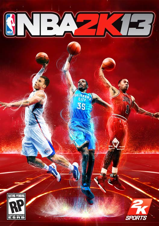 NBA 2K13 has tabbed a trio of basketball's rising superstars to share cover honors: L.A. Clippers forward Blake Griffin, Oklahoma City Thunder forward Kevin Durant and Chicago Bulls guard Derrick Rose. NBA 2K13 is scheduled for an October 2 release on the Xbox 360 and PS3. A Wii U version is also slated for the fall.