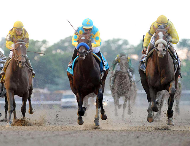 Union Rags skipped the Preakness and because of the Derby problems switched jockeys for the Belmont - from Julien Leparoux to John Velazquez, who picked up his second Belmont victory; he won in 2007 with filly Rags to Riches.
