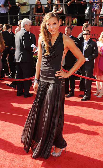 Jones arrives at the 2011 Excellence in Sports Performance Yearly Awards.