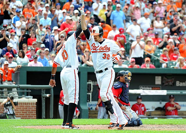 Matt Wieters hit a two-run homer in the eighth inning to interrupt Baltimore's agonizing offensive struggle.
