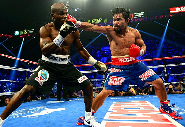 Pacquiao connected on 253 of 751 punches (34 percent), compared to 159 of 839 (19 percent) for Bradley, and outlanded the challenger in 10 of the 12 rounds. But judges Duane Ford and C.J. Ross both scored it 115-113 to Bradley, while Jerry Roth had it 115-113 to Pacquiao. The loss was Pacquiao's first in nearly eight years.