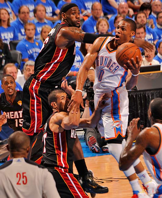 Russell Westbrook finished with 27 points, eight rebounds and seven assists, but shot 10 of 25 from the field.