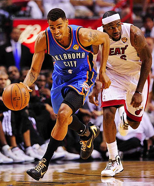 Thabo Sefolosha had three steals and scored six points for the Thunder.