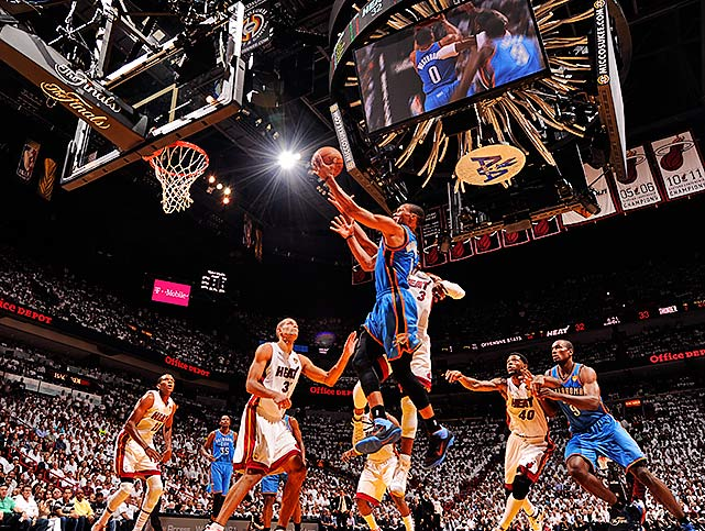 Russell Westbrook and the Thunder had a 17-point lead in the second half, but trailed for much of the fourth quarter.