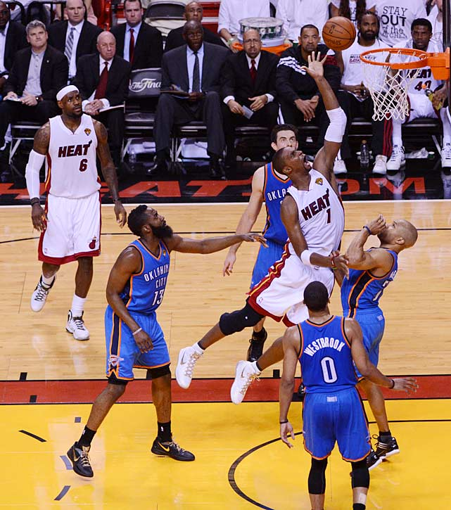 Chris Bosh had 24 points, making him one of six Miami players to score in double digits.