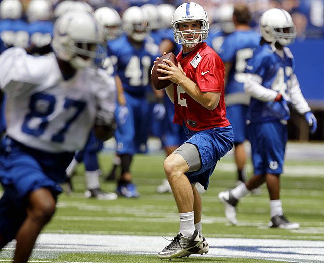 Andrew Luck will have big shoes to fill in camp at Anderson University.