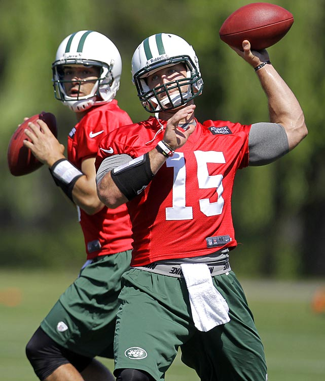 Mark Sanchez and Tim Tebow have said all of the right things so far, but it will be interesting to see how things play out at the Jets' training facility.