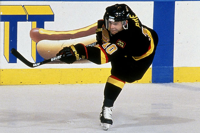 The Russian Rocket, a right winger with blazing speed, was the top forward at the 1991 World Junior championships before defecting from the Soviet Union that year to sign with the  Vancouver Canucks, who had selected him in the sixth round of the 1989 NHL Draft. Scoring 34 goals, he won the Calder Trophy as rookie of the year for 1991-92. The following season, Bure produced the first his two 60-goal and five 50-plus goal seasons. Only Hall of Famers Wayne Gretzky and Mike Bossy scored more often during their first three NHL campaigns.