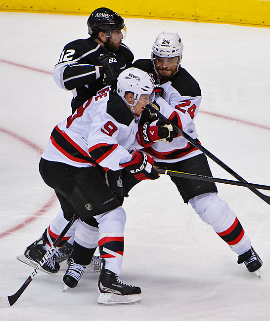 Bryce Salvador and the Devils defense played a tight game, getting help from forwards like Zach Parise to shut down Simon Gagne and the Kings offensive attack.