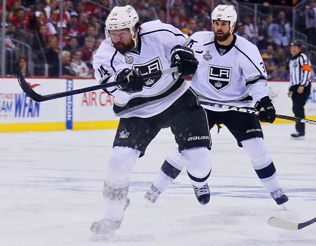 Justin Williams tied the game at 1-1 early in the second period with a wicked shot from between the circles.