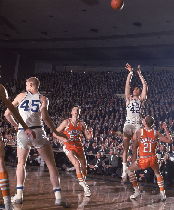 Riley rises up for a jumper against Tennessee in a 1966 game.