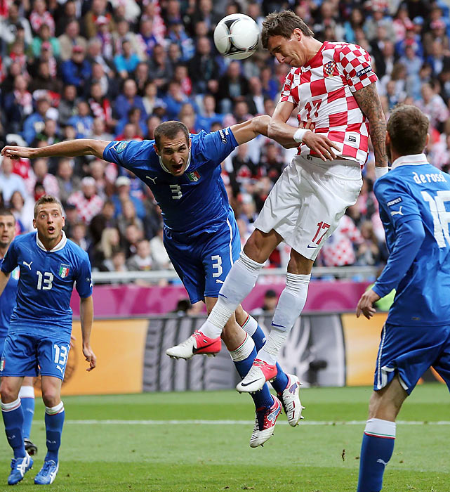 After dominating the first half, the Italians suffered from a tactical decision to defend instead of attack in the second half after Mario Mandzukic scored his third goal of the tournament to tie the game for Croatia. The Italians now must beat Ireland, who is coached by former Italian national coach Giovanni Trappatoni, and have either Spain or Croatia win their match.