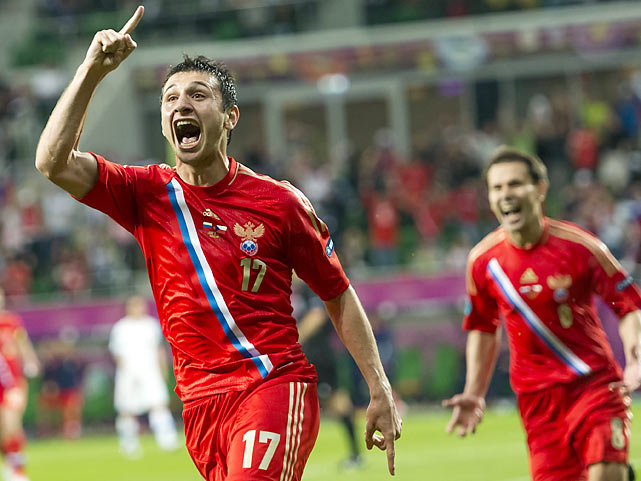 In a classically Soviet matchup, young speedster Alan Dzagoev was the star of the Eastern Bloc Party. The much-hyped 21-year old netted two past Czech goalie Petr Cech and the Russians routed, 4-1, the Czechs despite a slow start.