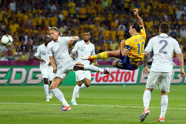 After two strong performances to open the tournament, France was run ragged by a superior Swedish side. The Swedes scored on a stunning volley from Zlatan Ibrahimovic in the 54th minute and easily sustained a rather toothless French attack. Sebastian Larsson provided an insurance goal in the 90th minute to assure Sweden left the tournament with three points. France advances to play Spain in the quarterfinals, and coach Laurent Blanc is surely worried after an unimpressive performance to close group play.