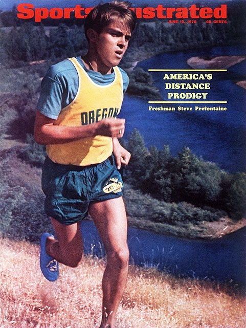 "Forty years ago, Steve Prefontaine set the American record in the 5,000 meters at Hayward Field in Eugene, Ore. In honor of the legendary distance runner, SI.com dug through the photo archives. Here's what we found.  *** At the age of 19, Pre, then a freshman at the University of Oregon, appeared on the cover of  Sports Illustrated.  The article, titled ""The Freshman And The Great"" Guru, can be found  here."