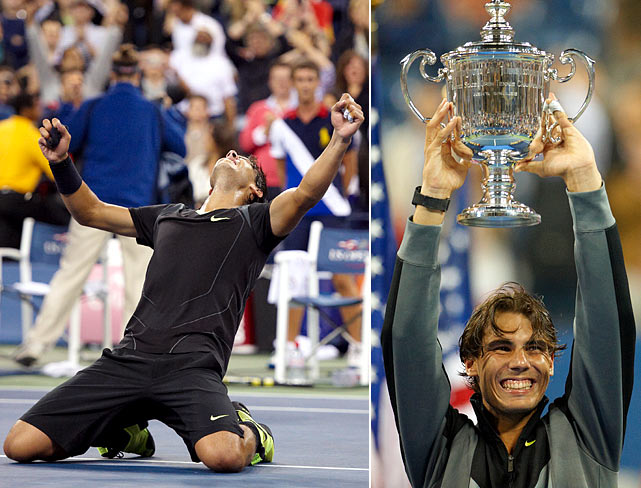 French Open (2005, '06, '07 '08, '10, '11, '12)   Wimbledon (2008, '10)   Australian Open (2009)   US Open (2010)