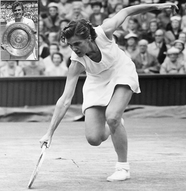 French Open (1951)   Wimbledon (1956)   US Open (1956)   Australian Open (1957)