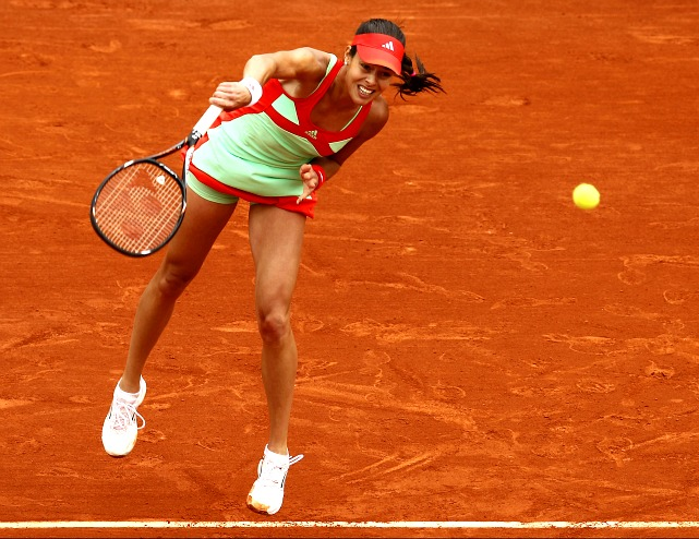 The 2008 French Open champ blitzed through the first two rounds, but then met a streaking Sara Errani in the third. Ivanovic looked to be cruising, winning the first set 6-1, but then her second serve failed her and the unforced errors started creeping up and Ivanovic lost the next two sets.