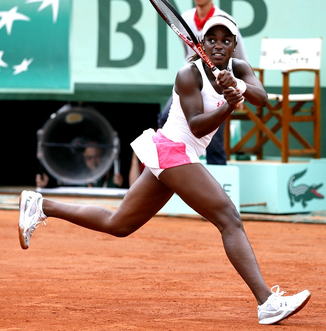 The 19-year-old American was the last teenager standing in the women's draw, and one of just two Americans to make it to the fourth round, where she lost to Sam Stosur.