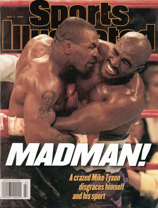 Sports Illustrated captures the controversial moment on its cover the week after the fight.