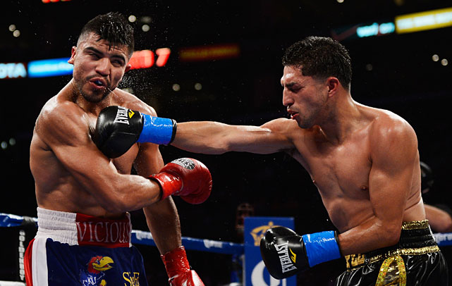 Unheralded junior welterweight Josesito Lopez scored the upset of the year to date Saturday when he broke Victor Ortiz's jaw en route to a technical knockout victory at Staples Center in Los Angeles.