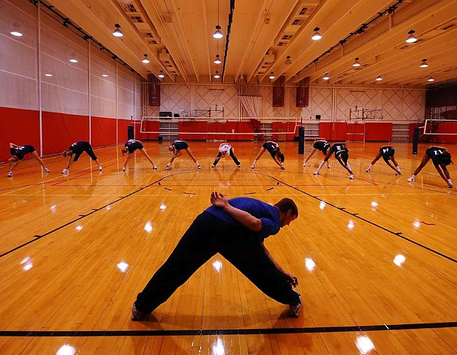Some Olympic hopefuls, such as volleyball players, stay at the OTC year-round.