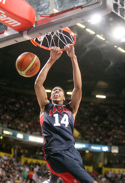 The No. 1 overall pick in the 2012 NBA draft out of the University of Kentucky is the lone NBA rookie on Team USA. Just 19 years old, don't expect him to play a key role on the star-laden team, but at 6-foot-10, he will lend size to the depleted American frontcourt as a reserve.