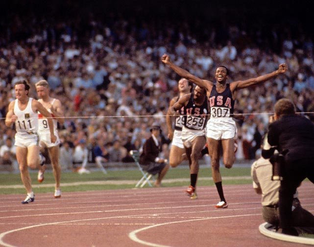 In the 1968 Olympics in Mexico City, the men's track and field team dominated the competition. They took gold in the sprint events, swept the 400 meters and won five out of eight field events. Overall they took home 10 individual gold medals, two relay team gold medals, five silver and seven bronze.