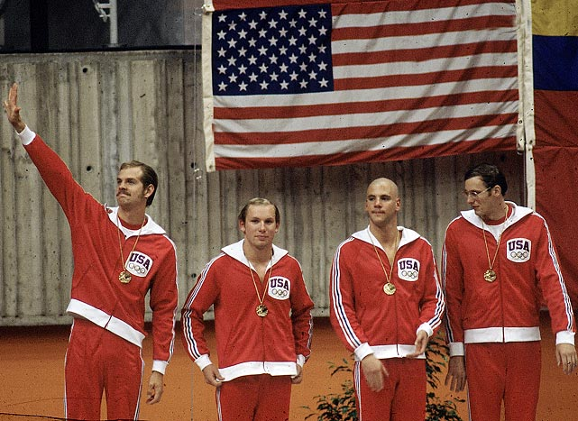 The 1976 men's swimming team put on an unbelievable show for the spectators across the border in Montreal, Canada.  Competing in 13 men's swimming events, the U.S took home 12 gold medals, 10 silvers, and 5 bronze.  They swept the 200-meter freestyle, 200 backstroke, 100 butterfly and the 200 butterfly.