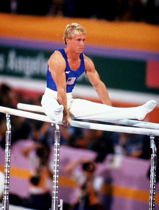 With the Soviet Union sitting out the Los Angeles Games, Bart Conner (pictured) and the rest of the U.S. team shocked the gymnastics world with its surprise win over the Chinese. The team added seven individual medals, including gold in both the parallel bars and pommel horse.