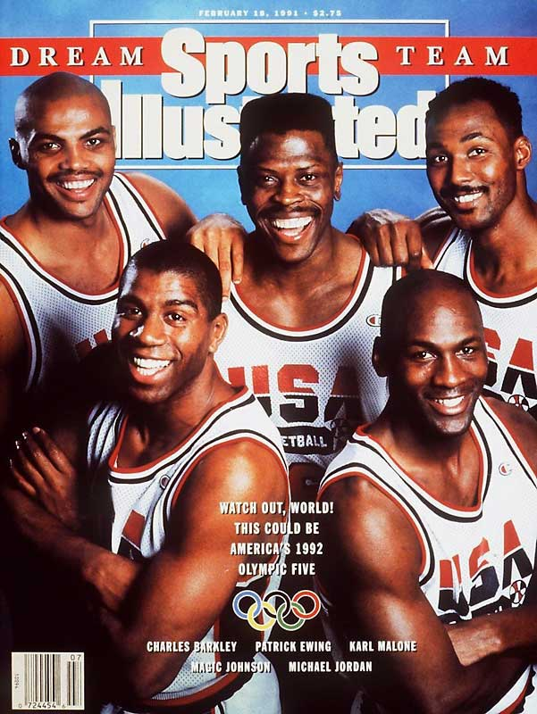 Magic Johnson, Michael Jordan and Larry Bird joined a host of other NBA stars on an Olympic team for the first time in 1992. In perhaps the most dominant Olympic performance in any sport, the Dream Team won by an average of 44 points as the world got its first glimpse of the NBA's star players.