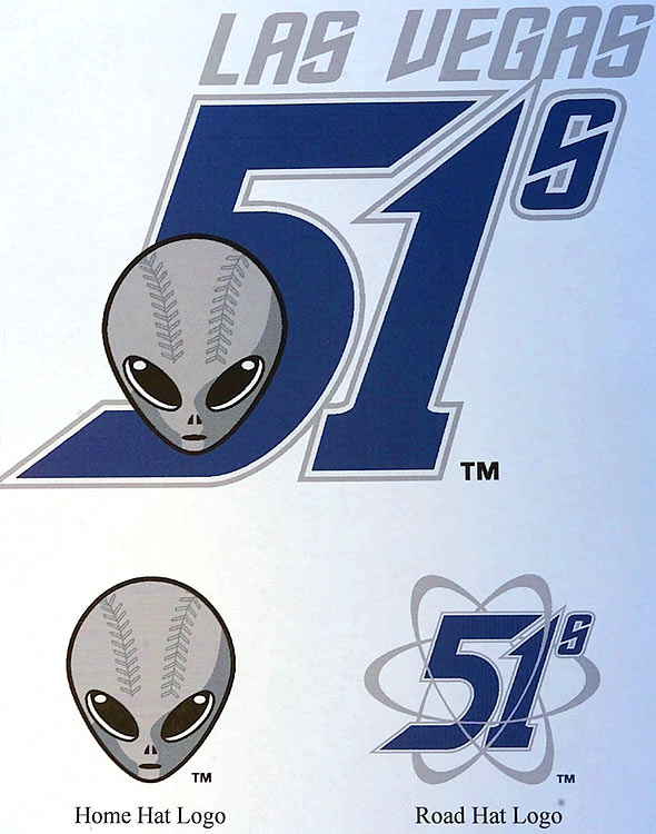 The logo of the minor league baseball team Las Vegas 51s, as in Area 51, was unveiled on Dec. 26, 2000 in Las Vegas.