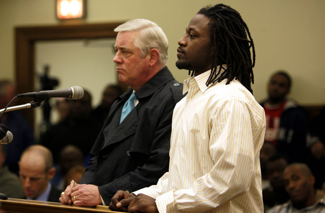 Though the jury verdict is in appeal, Jones was recently ordered to pay $11.7 million to three victims for his role in a shooting incident at a Las Vegas strip club in 2007 that left one of the plaintiffs paralyzed from the waist down. After a one-year ban by the NFL following a handful of other off-the-field criminal activities, Jones was involved in two separate incidences in 2008, one where he was accused of striking a woman at an Atlanta strip club and another where he infamously fought his own security guard outside of a Dallas hotel during his one-year stint with the Cowboys. Jones recently made an appearance at the NFL's Rookie Symposium to tell the league's next batch of newcomers to avoid many of the mistakes he has made in his own young career.