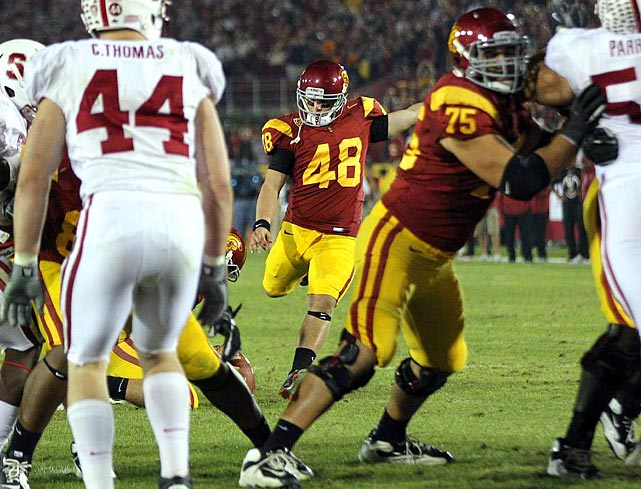 Stocky (5-foot-10, 210 pounds) and strong-legged, the highly regarded 2011 recruit earned All--Pac-12 honors as a true freshman, making 15-of-17 attempts, among them a 50-yarder against Stanford.