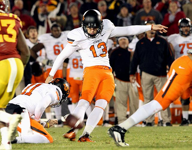 Already the starting punter (45.8-yard career average), Sharp replaced a Groza winner (Dan Bailey) as placekicker last season and made 22-of-25 field goals, including all 14 of his attempts inside 30 yards.