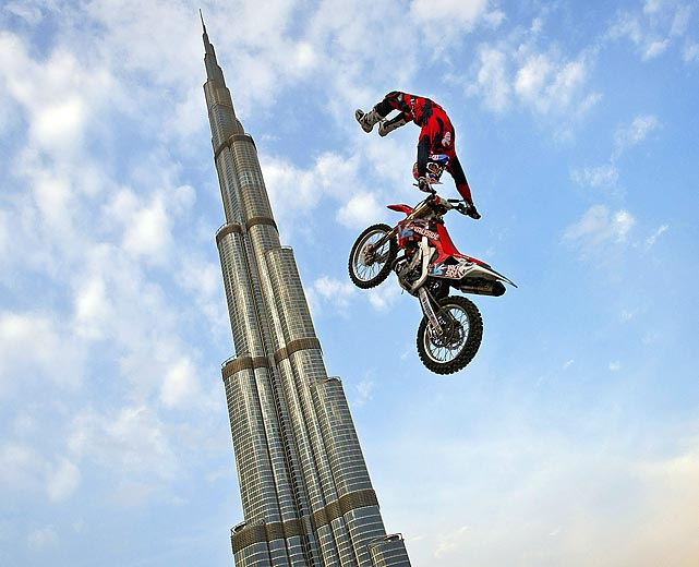Josh Sheehan drops in on Dubai. That happens to be the world's tallest building, Burj al-Khalifa, back there.