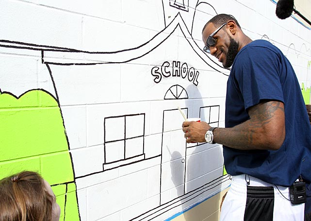 We believe the Miami Heat superduperstar is trying to return to school. Here's the proof from the NBA Cares All-Star Day of Service in Orlando.