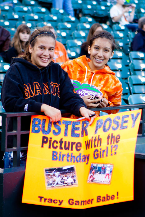 What does this Giants fan want for her birthday? A photo with Buster Posey, of course.
